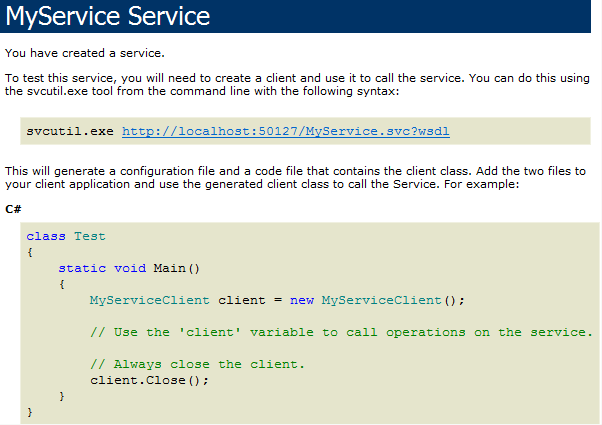 adding wcf service references