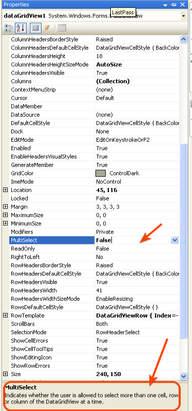 Disable highlighted/ selected datagridview VB NET