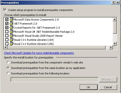 How to create setup file for crystal reports and deployed with msi